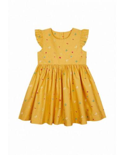 Повседневное желтое платье Mothercare