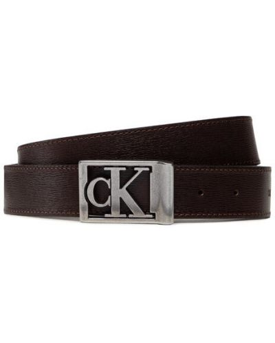Klasyczny pasek - brązowy Calvin Klein Jeans