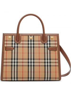 Кожаная сумка - коричневая Burberry