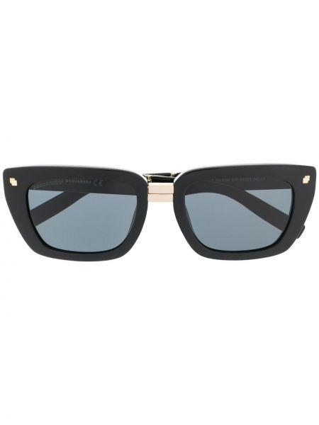 Муслиновые черные солнцезащитные очки прямоугольные Dsquared2 Eyewear