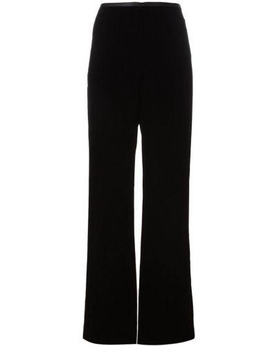 Черные брюки с воротником Armani Collezioni