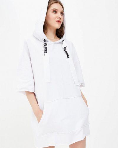 Белое платье с длинными рукавами Fornarina