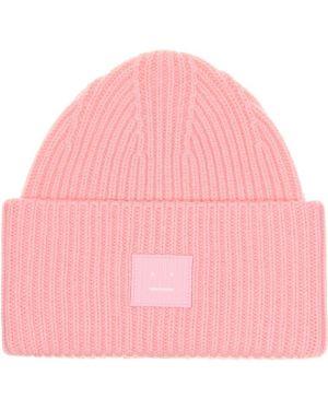 Шапка бини розовый шерстяная Acne Studios