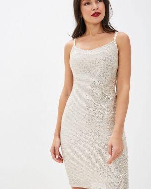 Вечернее платье осеннее бежевое Imocean