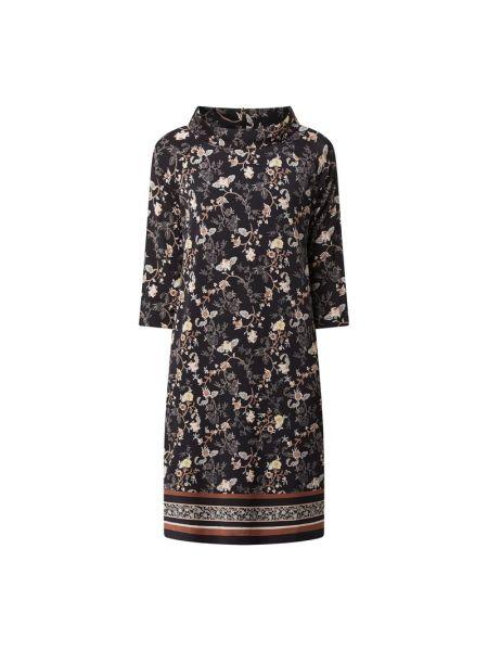 Sukienka z wiskozy - czarna S.oliver Black Label