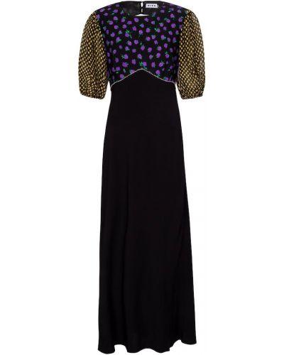 Czarna sukienka długa z wiskozy Rixo