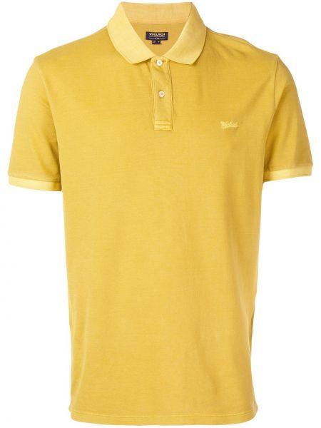 Koszula krótkie z krótkim rękawem klasyczna z logo Woolrich