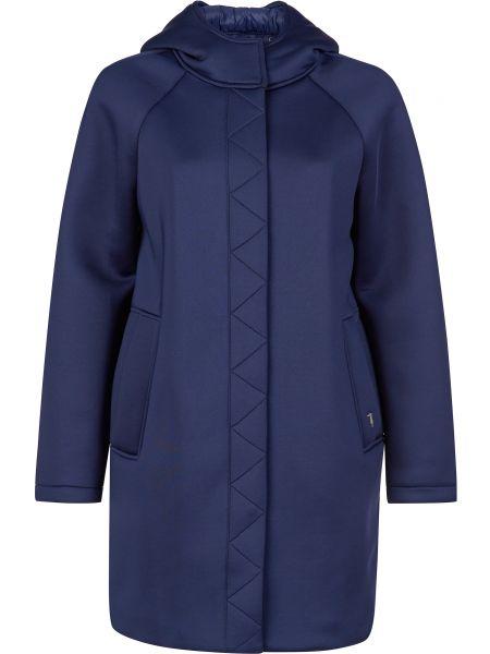 Пальто из полиэстера - синее Trussardi Jeans