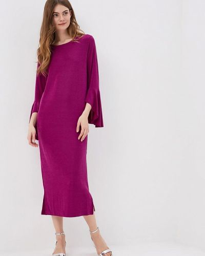 Фиолетовое платье с длинными рукавами Mango