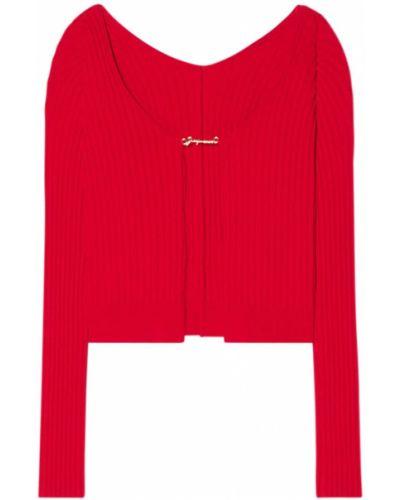 Красная трикотажная кофта Jacquemus