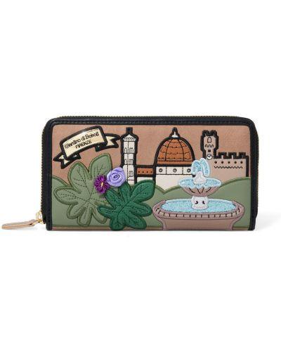 Brązowy portfel Braccialini