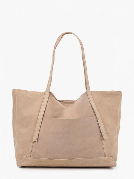 Бежевая сумка шоппер с камнями Mango