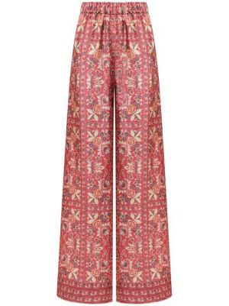 Шелковые брюки - розовые Vilshenko