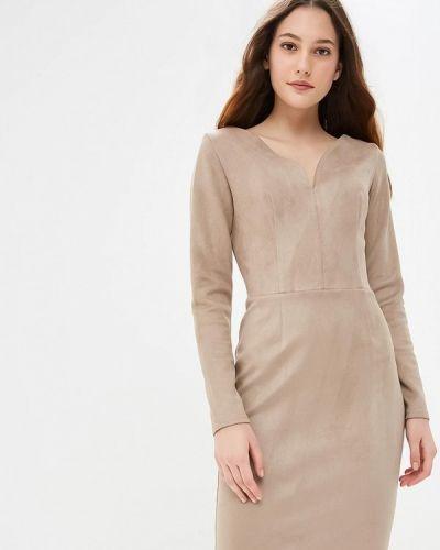 Платье осеннее бежевое Gorchica