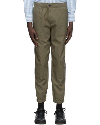 Bawełna bawełna czarny spodnie z mankietami Rag & Bone