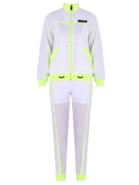 Длинный белый спортивный костюм с карманами средний Plein Sport