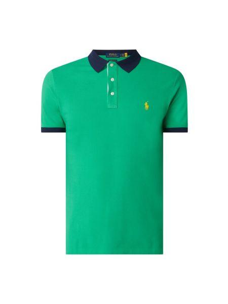 Zielony bawełna bawełna z rękawami t-shirt Polo Ralph Lauren