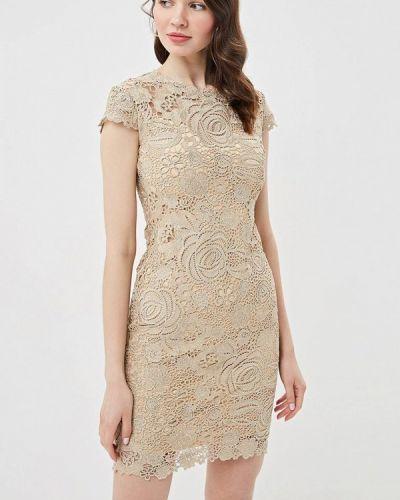 Вечернее платье бежевое Lusio