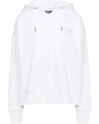 Флисовое белое худи с капюшоном Adidas By Stella Mccartney