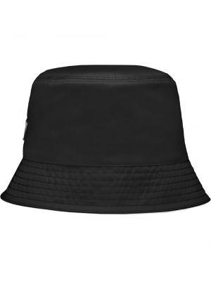 Czapka bawełniana - czarny Prada