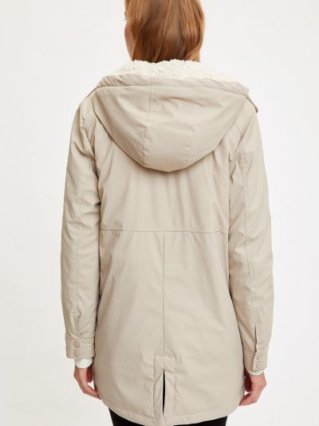 Куртка с капюшоном - бежевая Defacto