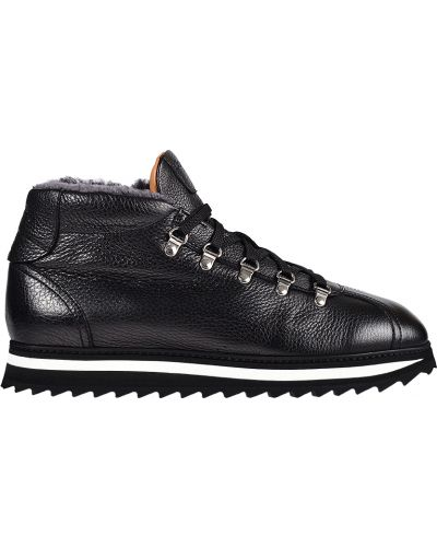 Кожаные кроссовки - черные Doucal's