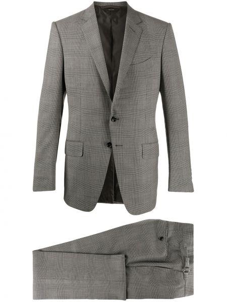 Костюмный серый шерстяной костюм Tom Ford
