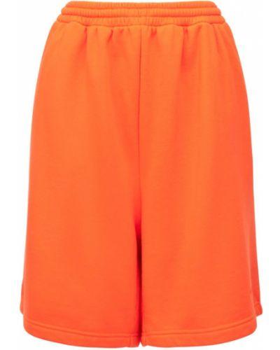 Pomarańczowe szorty bawełniane Balenciaga