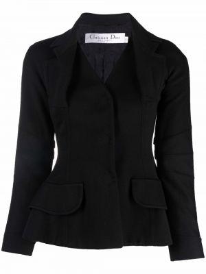 Czarna kurtka wełniana Christian Dior