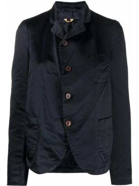 Однобортный черный приталенный удлиненный пиджак Comme Des Garçons Girl