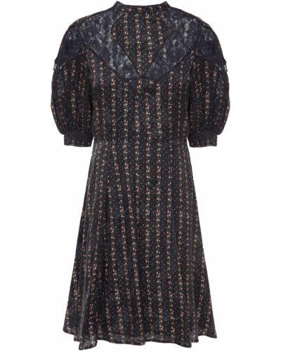 Czarna sukienka zapinane na guziki Bytimo