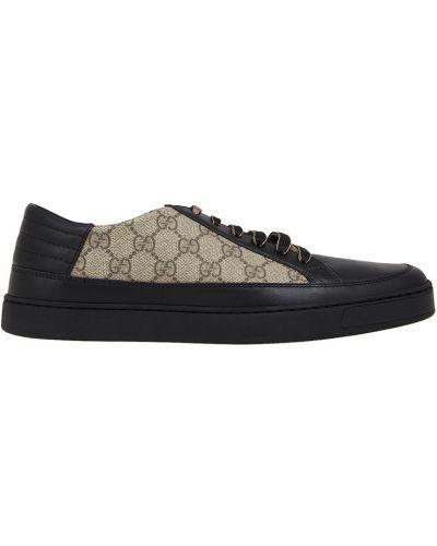 Кожаные кроссовки Gucci