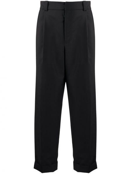 Bawełna bawełna czarny spodnie z paskiem Acne Studios