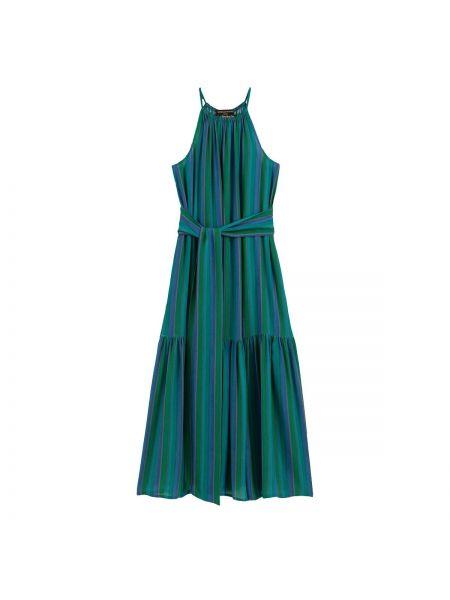 Платье миди с американской проймой пляжное La Redoute