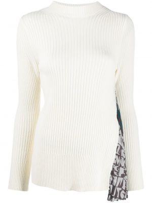 С рукавами шерстяной длинный свитер с воротником Sacai