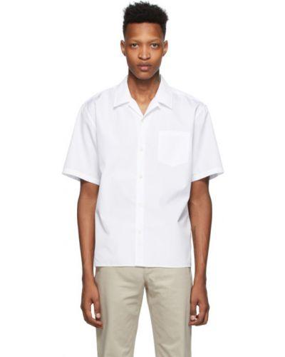 Biała koszula krótki rękaw bawełniana Norse Projects