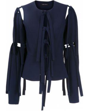 Прямое синее длинное пальто Gloria Coelho