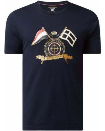 T-shirt z printem - niebieska Christian Berg Men