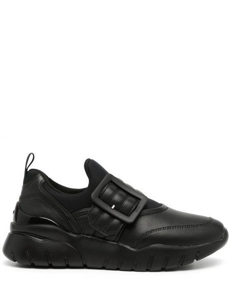 Черные кроссовки с логотипом Bally