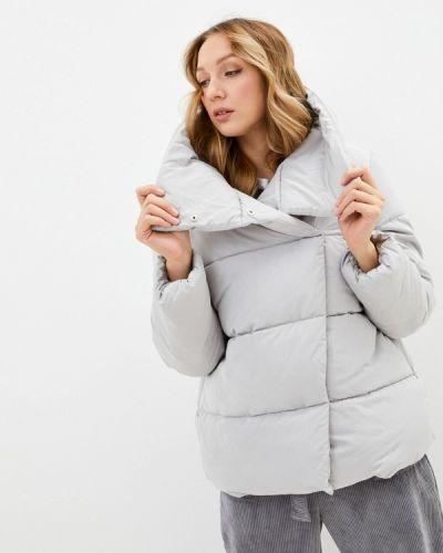 Серая утепленная куртка Zarina