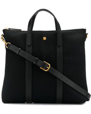 Черная парусиновая сумка-тоут на молнии Mismo