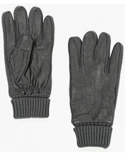 Серые кожаные перчатки Carpisa