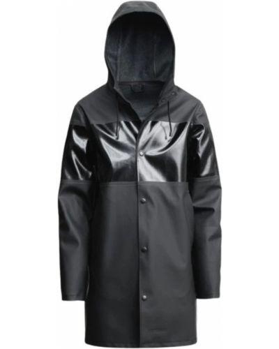 Czarny płaszcz przeciwdeszczowy Stutterheim