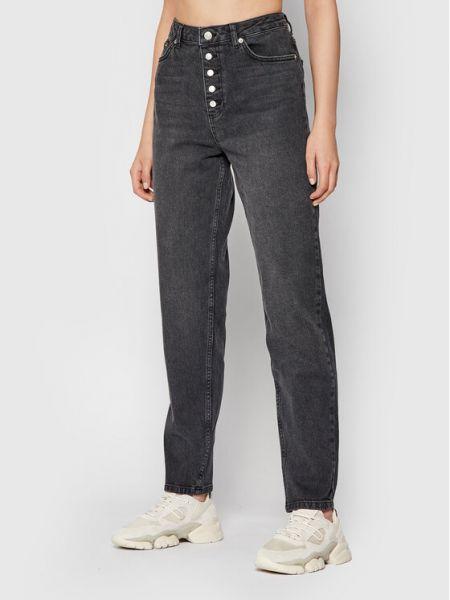 Mom jeans - szare Na-kd