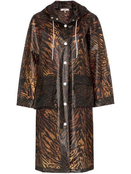 Длинное пальто айвори Ganni