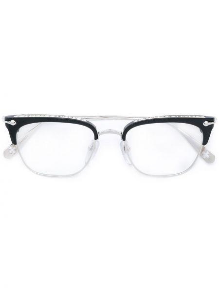Czarne okulary srebrne Chrome Hearts