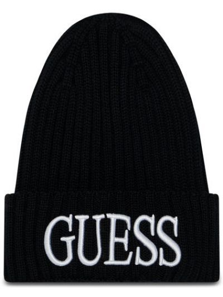 Czarny czapka baseballowa Guess