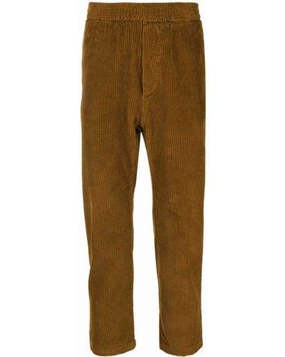 Brązowe spodnie sztruksowe Barena