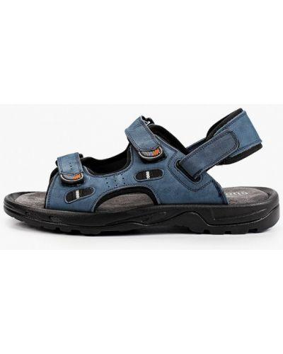 Синие сандалии из нубука Shoiberg