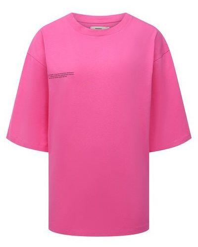 Хлопковая футболка - розовая Pangaia